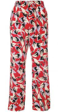 falling leaves patterned trousers Nº21