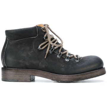 heavy lace-up boots Del Carlo