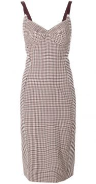 Vestido slim xadrez Stella McCartney