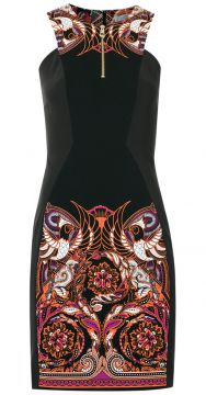 Vestido tubinho com estampa Versace Collection