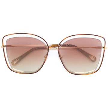 floating frame sunglasses Chloé Eyewear