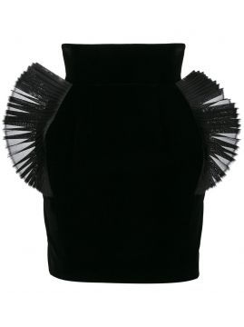 pleated organza embellished mini skirt Ronald Van Der Kemp