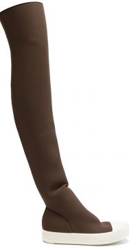 Bota over the knee de neopreno Rick Owens DRKSHDW