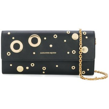 eyelet and stud clutch Alexander McQueen