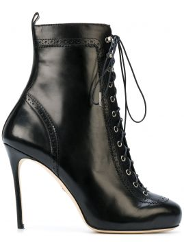 Ankle boot de couro Dsquared2