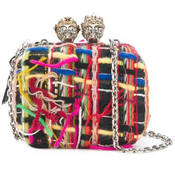 Clutch  Queen and King skull  Alexander McQueen