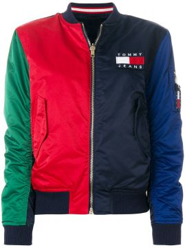 Jaqueta bomber color block Tommy Jeans
