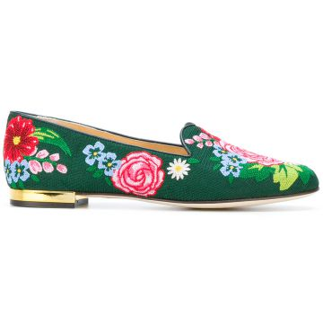 Slipper floral Charlotte Olympia