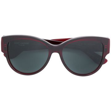 Óculos de sol oval Saint Laurent Eyewear