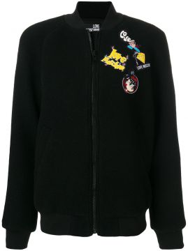 Jaqueta bomber com patches Love Moschino