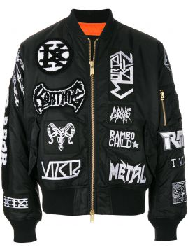 Jaqueta bomber com patches KTZ