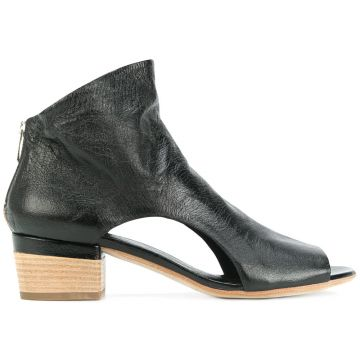 Ankle boot de couro com abertura frontal Officine Creative
