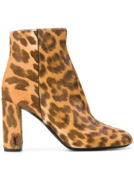 Ankle boot LouLou animal print Saint Laurent
