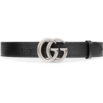 Leather belt with double G buckle Gucci