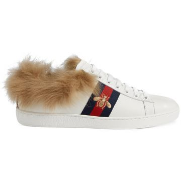 Ace sneaker with fur Gucci