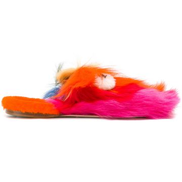Creeper fluffy sliders Anya Hindmarch