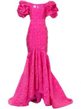 mermaid ruffled gown Bambah