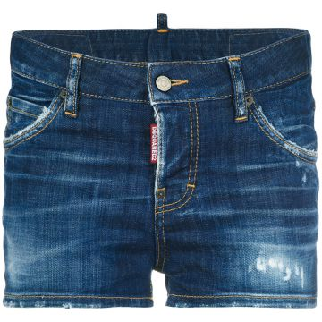 Short jeans desfiado Dsquared2