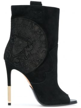 heeled crest ankle boots Balmain