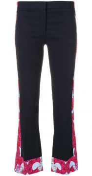 Barocco Istante trimmed trousers Versace