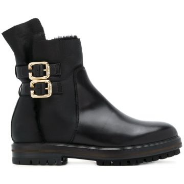 Ankle boot de couro Agl