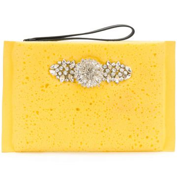 Clutch com cristais Christopher Kane
