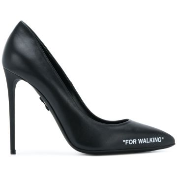 Sapato For Walking de couro Off-White