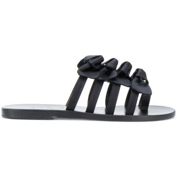 Sandália De Cetim hara - Ancient Greek Sandals