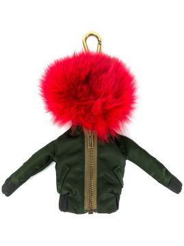 Pom-pom Jacket Keyring - Mr   Mrs Italy 3434ef18b11