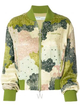 Jaqueta Bomber Floral - Off-white