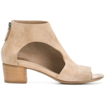 Peep Toe Cut-out Ankle Boots - Marsèll
