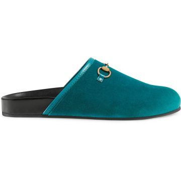 Slipper Horsebit De Veludo - Gucci
