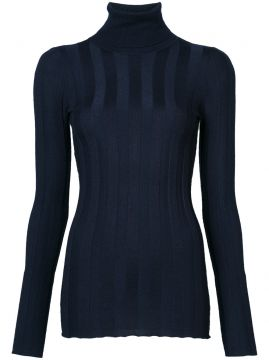 Ribbed Long Sleeve Turtleneck - Derek Lam