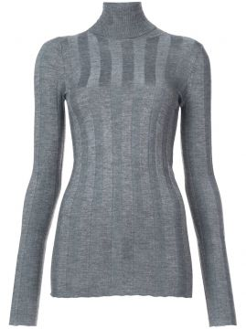 Ribbed Long Sleeved Turtleneck - Derek Lam