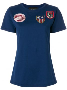 Front Patches T-shirt - Mr & Mrs Italy