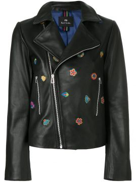 Kyoto Floral Embroidery Biker Jacket - Ps By Paul Smith