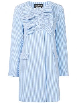 Ruched Striped Coat - Boutique Moschino