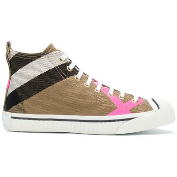 House Check Hi-top Sneakers - Burberry