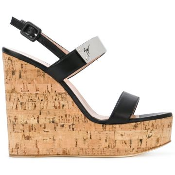 Cork Wedge Sandals - Giuseppe Zanotti Design
