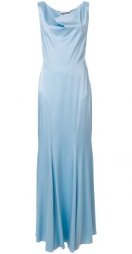 Cowl Neck Evening Gown - Moschino