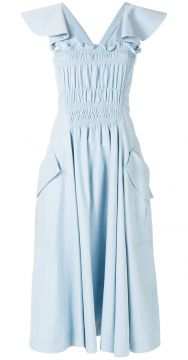 Front Ruffle Midi Dress - Carven