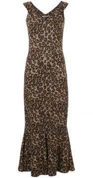 Vestido Animal Print - Rosetta Getty