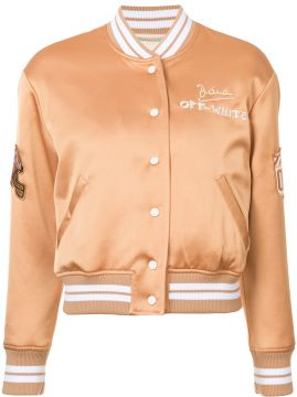 Jaqueta Bomber Bordada - Off-white