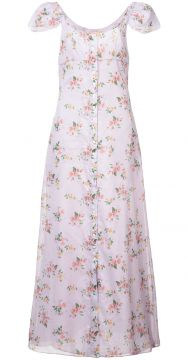 Floral Print Button Down Maxi Dress - Brock Collection