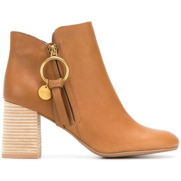 Ankle Boot De Couro - See By Chloé