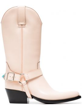 Tex Tammy 50 Leather Long Boots - Calvin Klein 205w39nyc