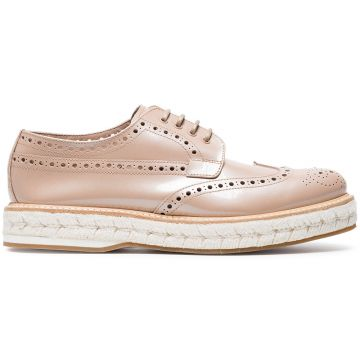 Pink Tamsin Patent Leather Brogues - Churchs