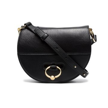 Black Latch Leather Cross Body Bag - Jw Anderson