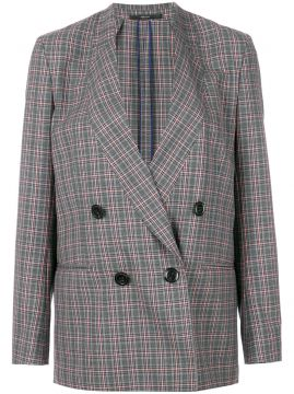 Check Double-breasted Blazer - Paul Smith
