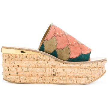 Camille Wedge Sandals - Chloé